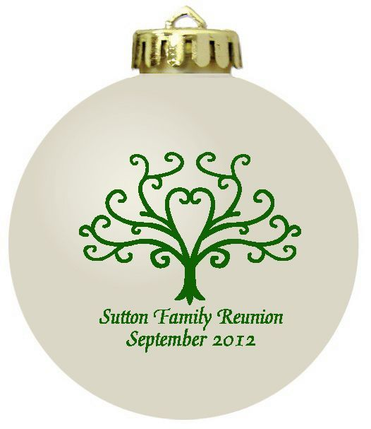 Personalized Christmas ornament family reunion favors Family - family reunion flyer