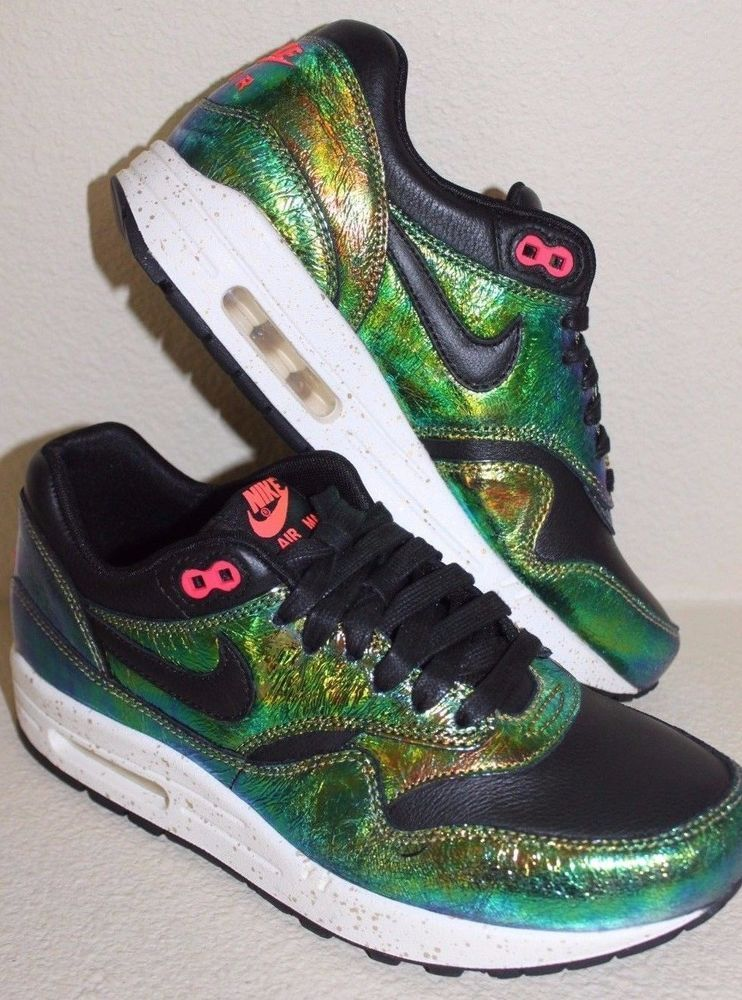 c8f8f821f0ac NEW Nike Air Max 1 SUP QS 669639-700 Mens Size 6.5 Womens Size 8 Iridescent  Blk  Nike  AthleticSneakers