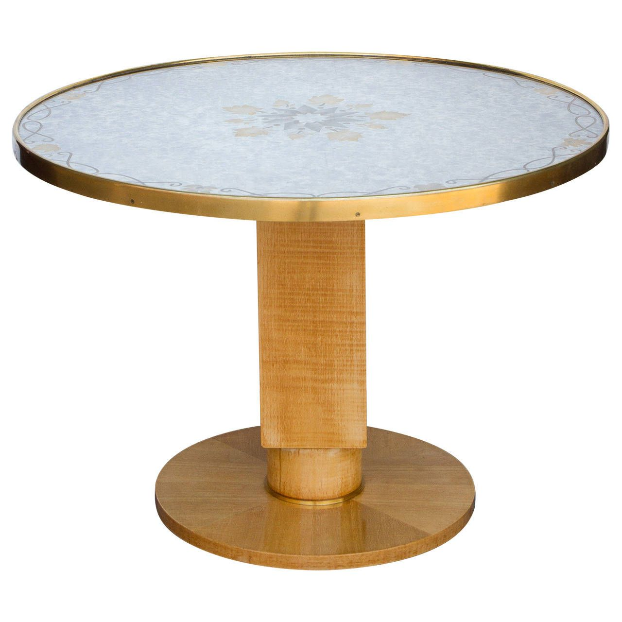 Art Deco Center Table by Jules Leleu   From a unique collection of antique and modern center tables at https://www.1stdibs.com/furniture/tables/center-tables/