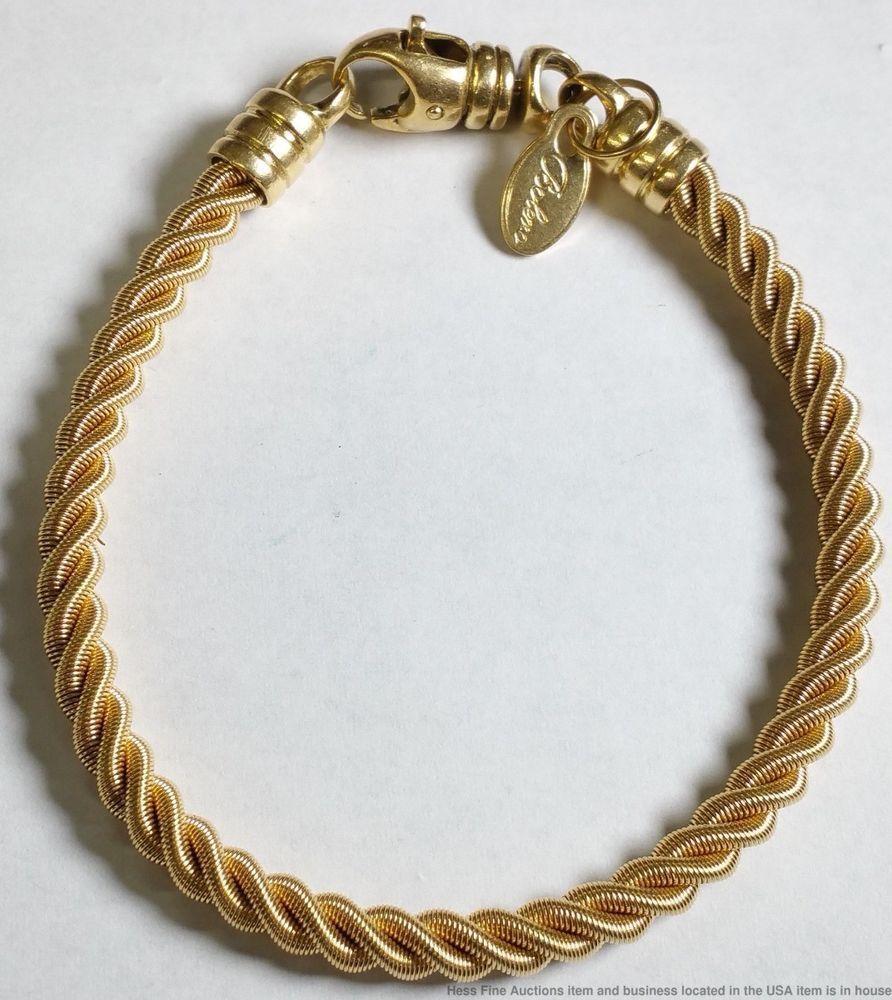K yellow gold rope aurafin italy bolevo bracelet uhhhh