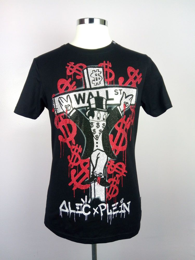 2aa02c7d125659 100% Authentic PHILIPP PLEIN & ALEC MONOPOLY Wall Street Encrusted T-shirt  MINT #PhilippPlein #FashionTshirt