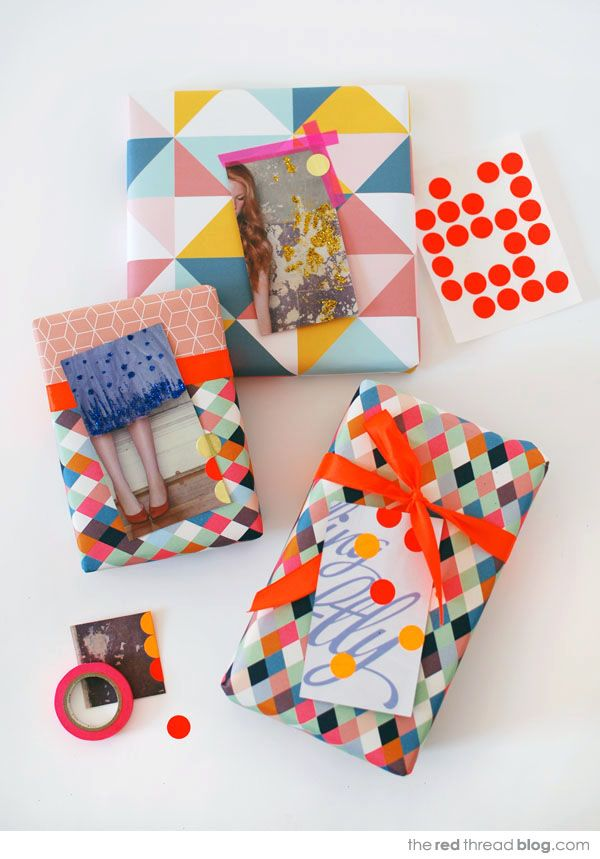 Diy gift tags and wrapping from magazines and catalogues by the red diy gift tags and wrapping from magazines and catalogues by the red thread solutioingenieria Choice Image