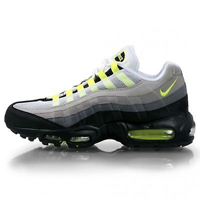 Nike Air Max 95 Mens 609048 072 Cool Grey Neon Running Shoes