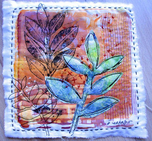 monoprint on fabric