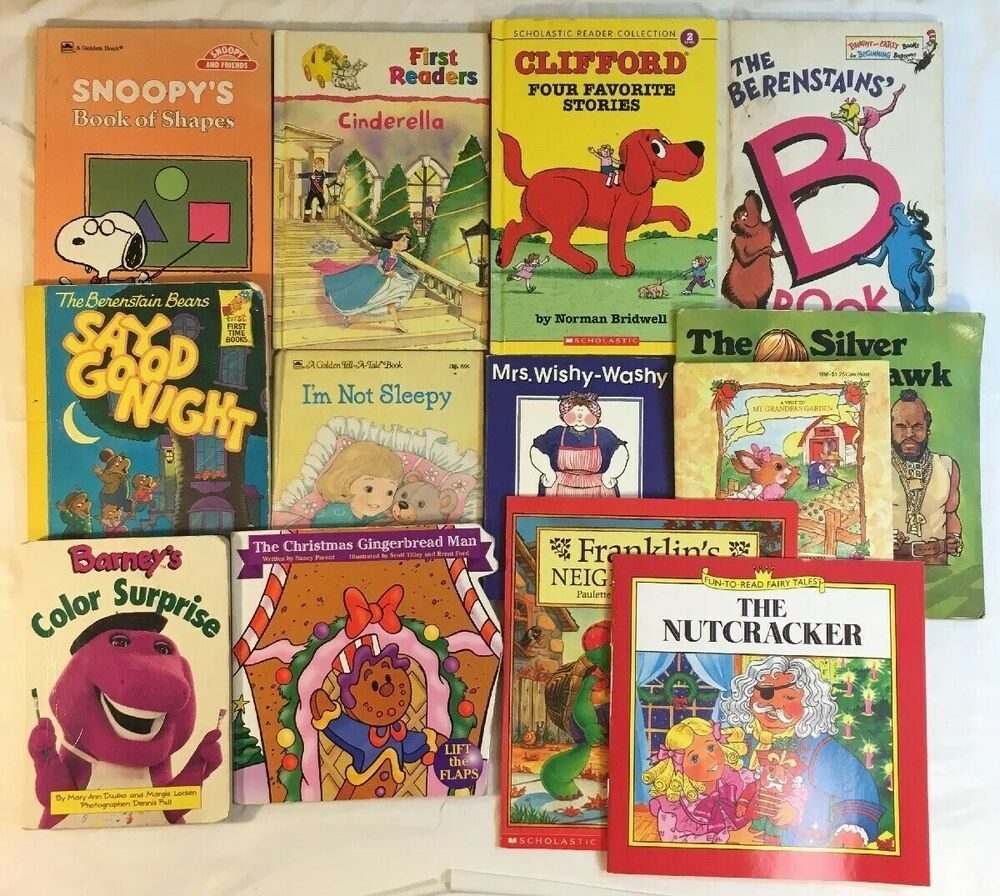 Children S Book Lot Of 13 Paperback Hardback Barney Dr Suess Franklin Children S Books Things To Sell Paperbacks