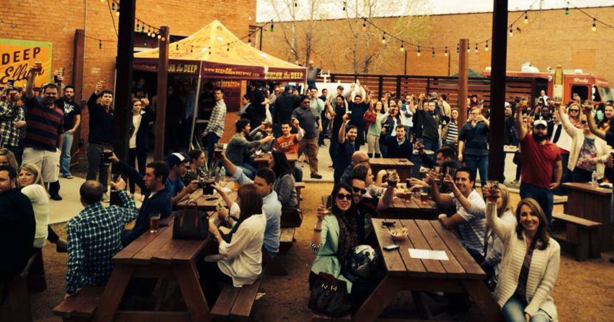 Dumpster Dive Pool Party in Dallas at Deep Ellum Brewing
