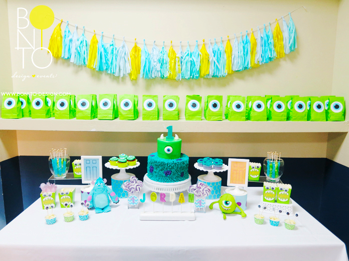MONSTERS INC PARTY by bonito design How cute are these Boys bday