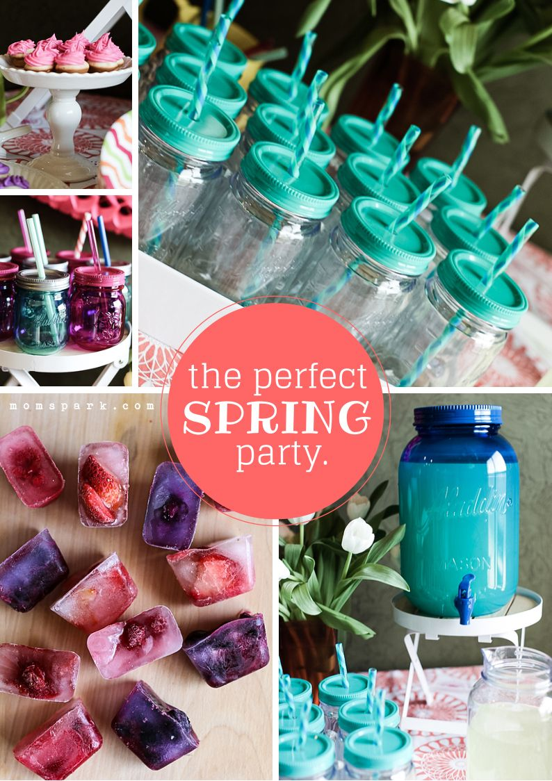 How to Create the Perfect (and Easy) Spring Party. All about the #MasonJar at the @Mom Spark party!