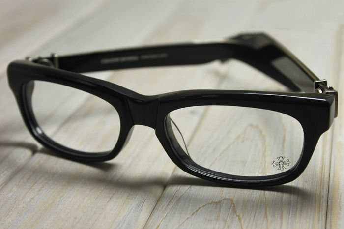 ed45fa4377af CHROME HEARTS SPLAT DEMI BLACK BONE Glasses Eyewear Eyeglasses Frame  Sterling Silver