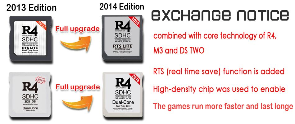 R4 ds card 2014 version for Nintendo 3ds   NDS Multi Games Card