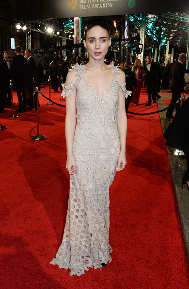 Rooney Mara attends the 2016 BAFTA Awards wearing Givenchy Spring 2016 Couture