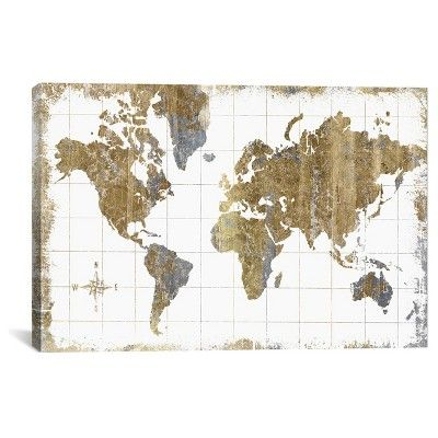Gilded map by all that glitters canvas print 26x 40 off white gilded map by all that glitters canvas print 26x 40 off white gray gold glitter canvas canvases and target gumiabroncs Image collections