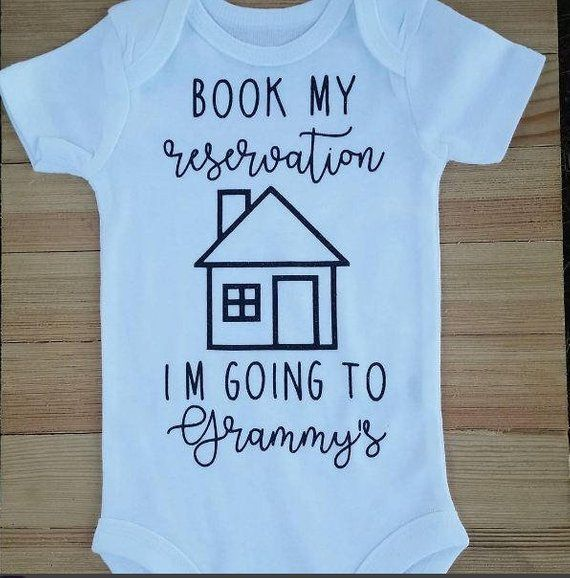 412df0be8 Book My Reservation I'm Going to Grammy's, Pregnancy Announcement Onesie®,  Grandma's, Papa's, Grandpa's, etc., Cute Grandparent Onesie®