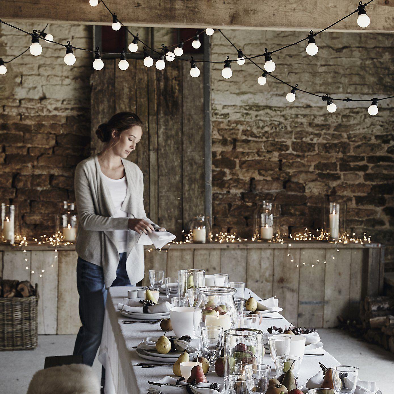 A Home Filled With Soul Bistro Bulb Fairy Lights 20 Bulbs Christmas The White Company Weihnachten In Osterreich Wandgestaltung Deko Gartenfest