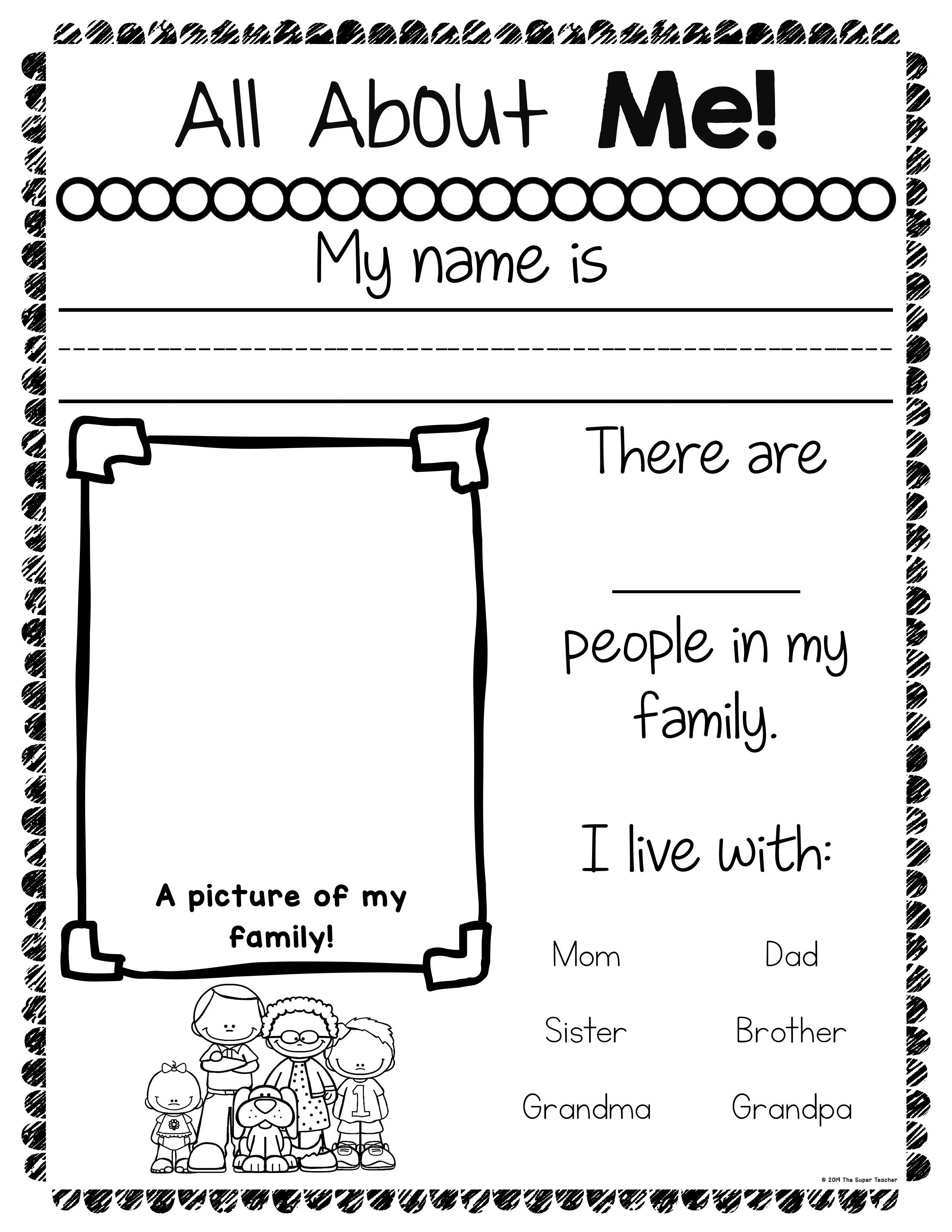 All About Me 003 Name Writing Practice Reading Skills Worksheets All About Me Book