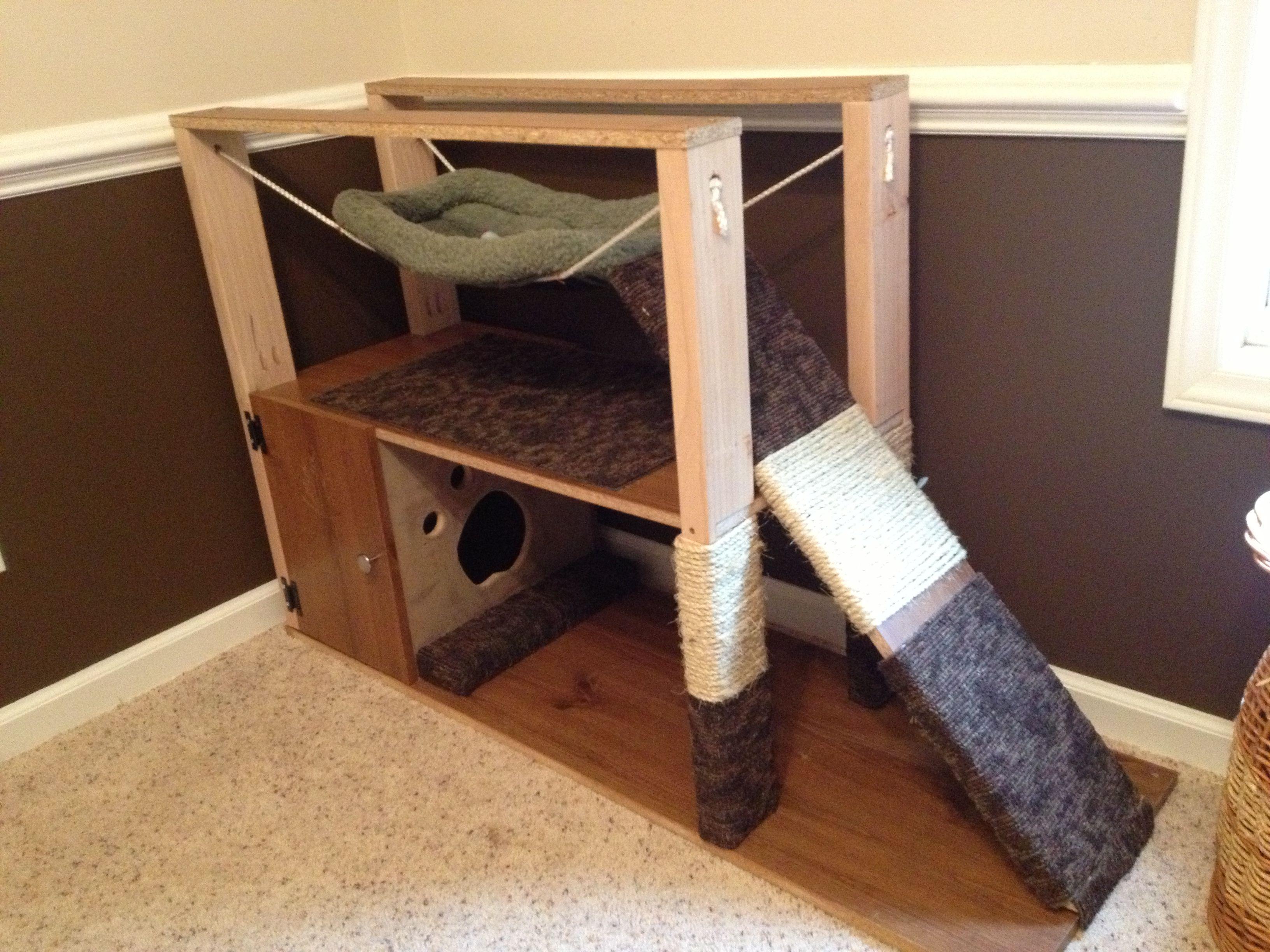 walmart with tree com scratching condo house hammock ip cat posts