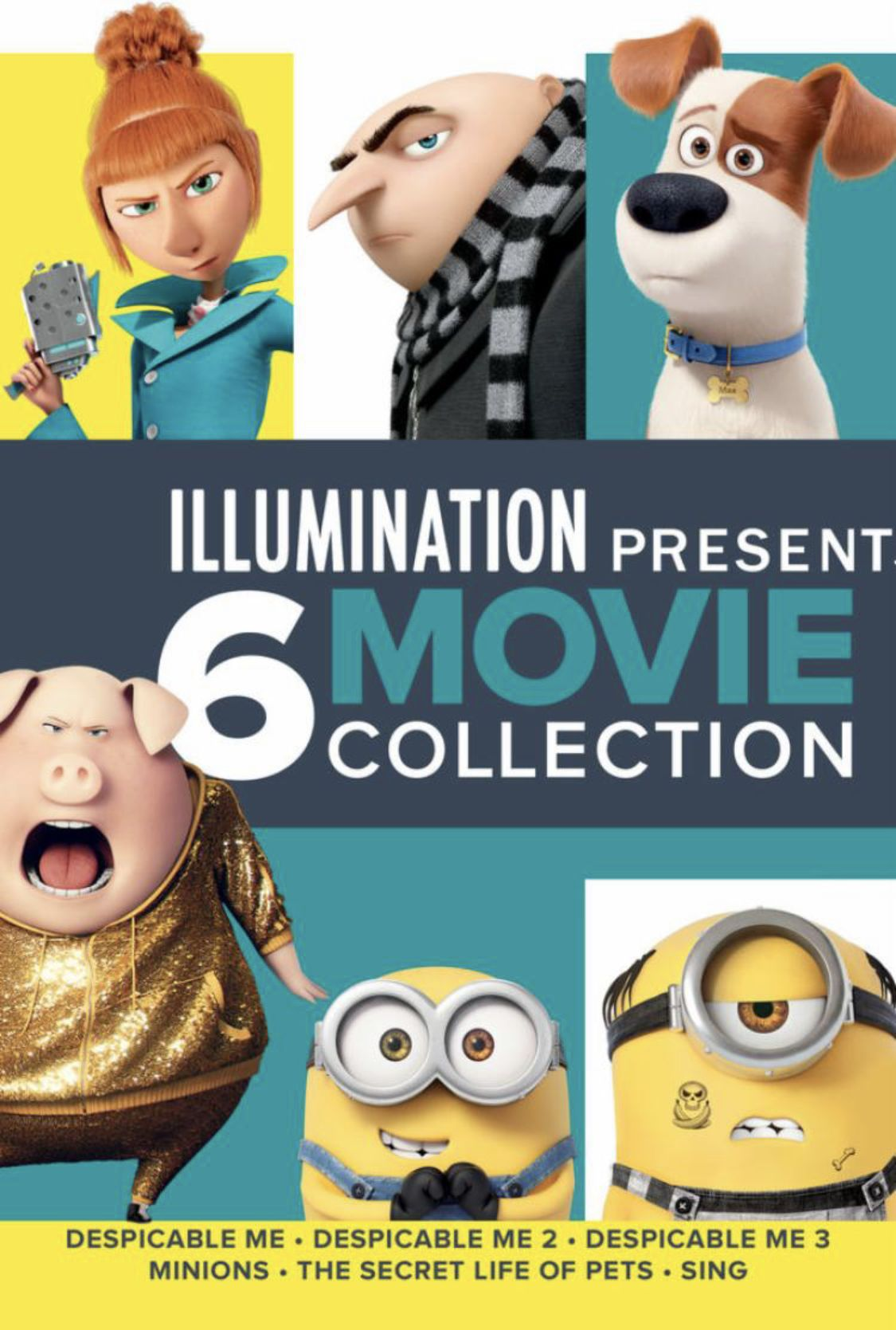 Illumination 6 Film Collection 50 Off 39 99 Discover Great Deals On Fantastic Apps Tech More Minions Singing Secret Life Of Pets Movie Collection