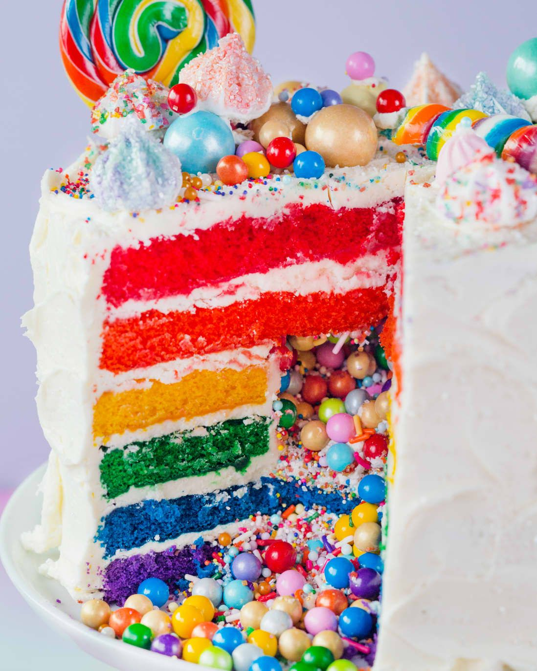 Photo of How To Make the Ultimate Rainbow Surprise Cake