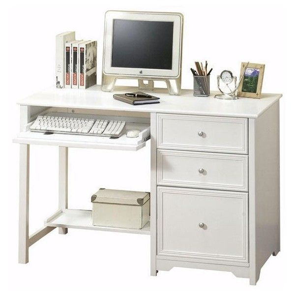 Sleek Simple Style Of This Home Decorators Collection Oxford White Desk Makes It A Welcome Addition To Any Office Furniture Arrangement