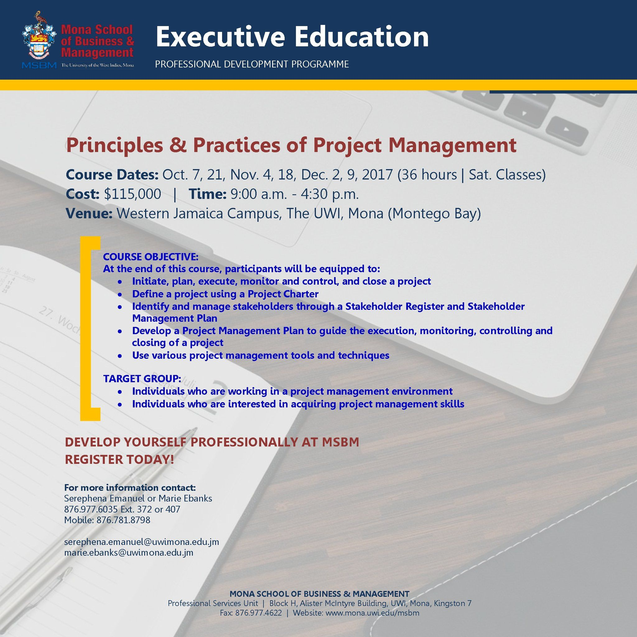Sign Up Today For Principles And Practices Of Project Management