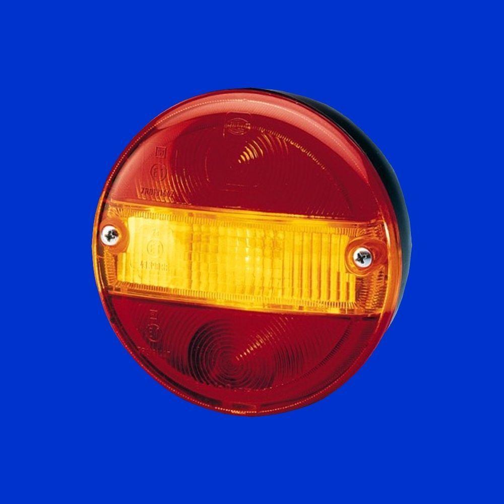 Hella Begrenzungsleuchte Metallgehäuse D 80mm Standlicht  weiß u Blinker gelb