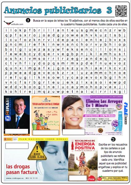 Anuncios Publicitarios Actividades Y Fichas Para Lengua
