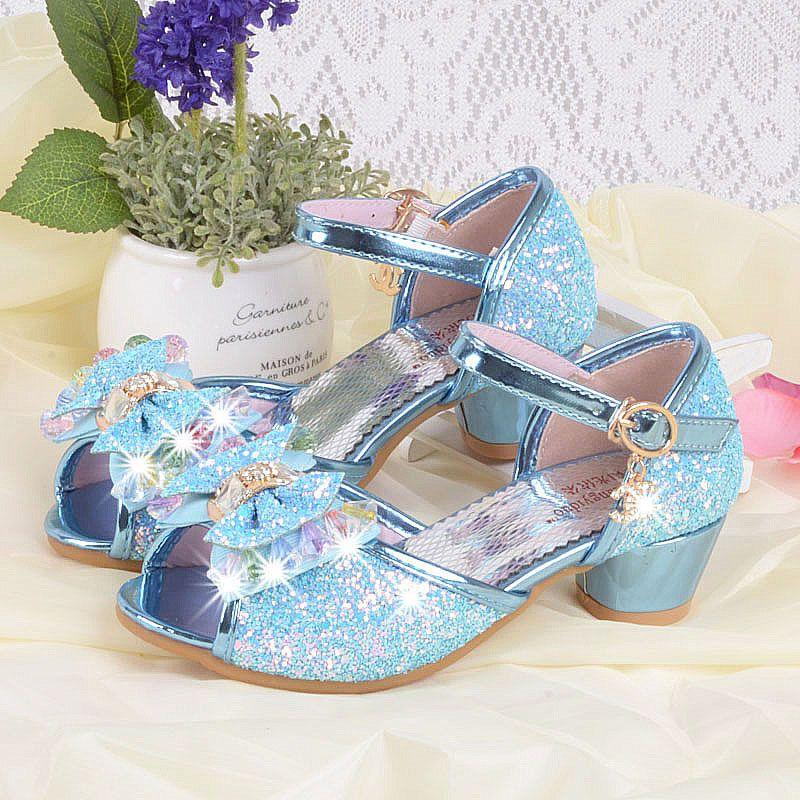 Children Girls Sandals Fashion Princess Shoes Summer High-Heel Sandals Kids  Girls Rhinestone Party Shoes Baby Sandals   Price   30.56   FREE Shipping       ...