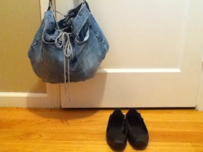 jeans to bag - i wish I could sew