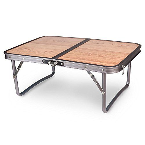 Adjustable Small Low Wood Portable Table Camping Table Beach