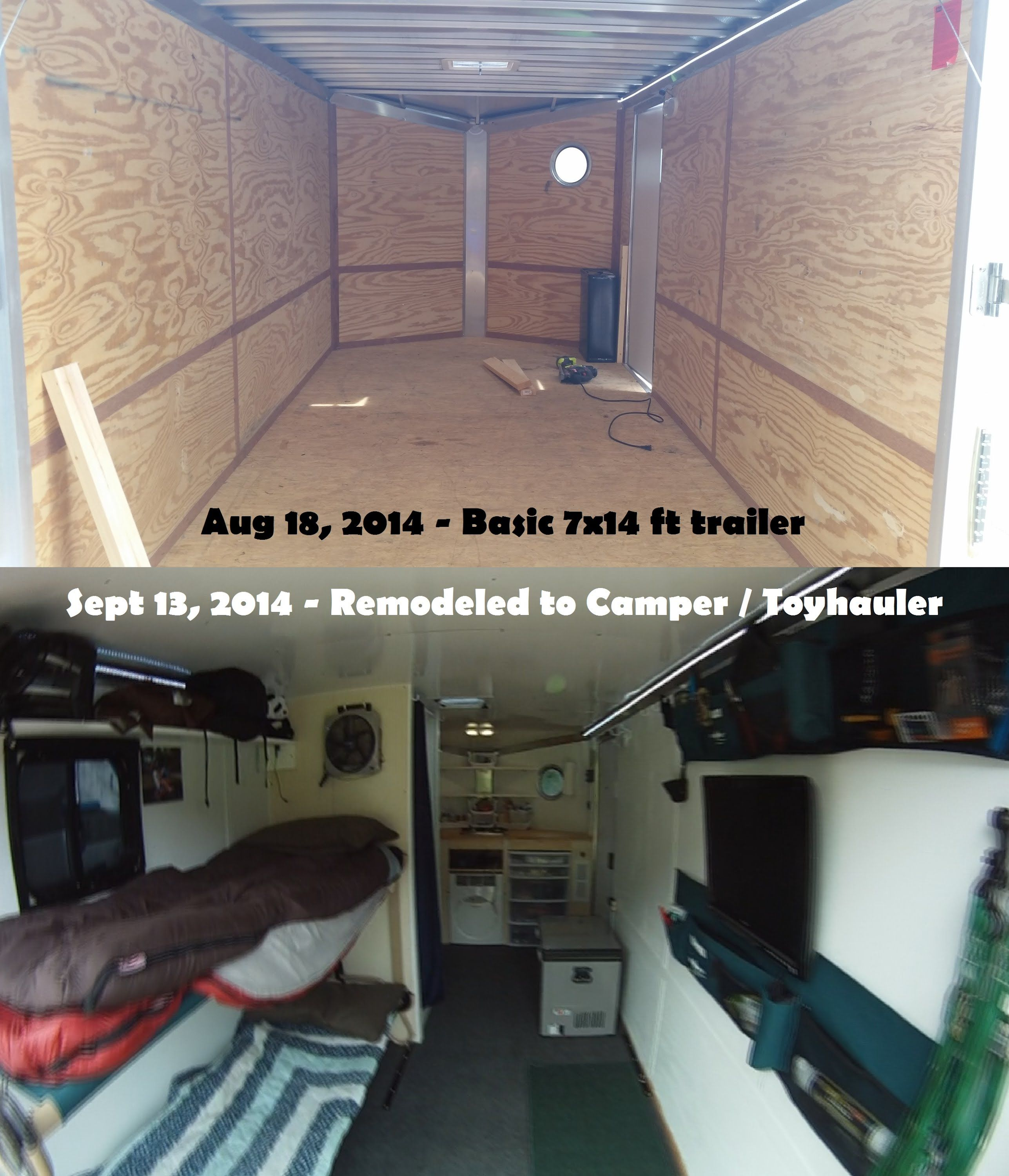 7 X 14 Trailer To Camper Conversion Tiny House Cargo