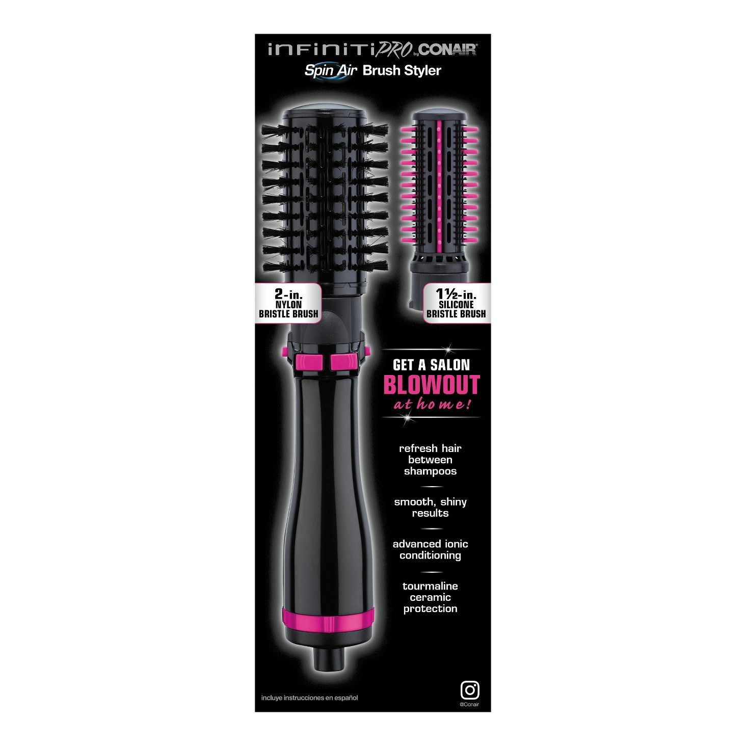 Conair Infiniti Pro Hot Air Brush Target Refresh Customize Volume And Create Shine With This Versatile Combo Styler 2 Inch Br Salon Blowout Conair Airbrush