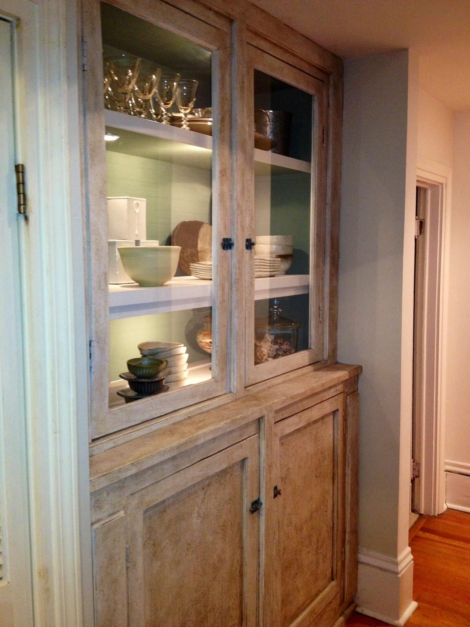 Redo Of Built In China Cabinet Home Kitchens Built Ins Cool Furniture