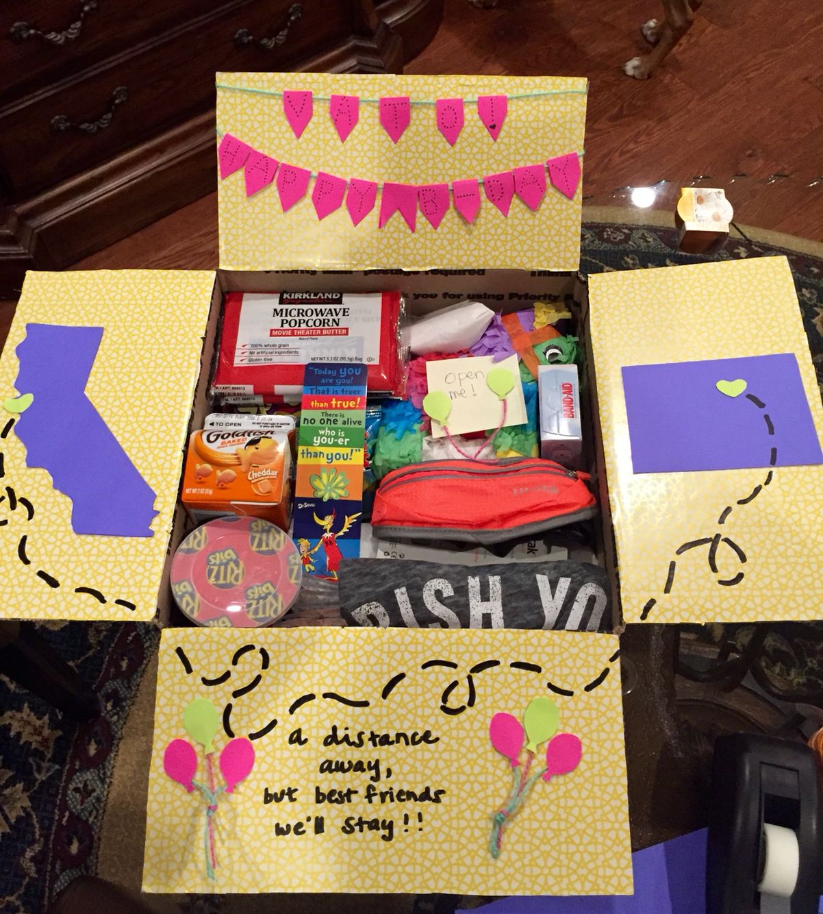 Birthday care package for a best friend geegfromfeej gift ideas
