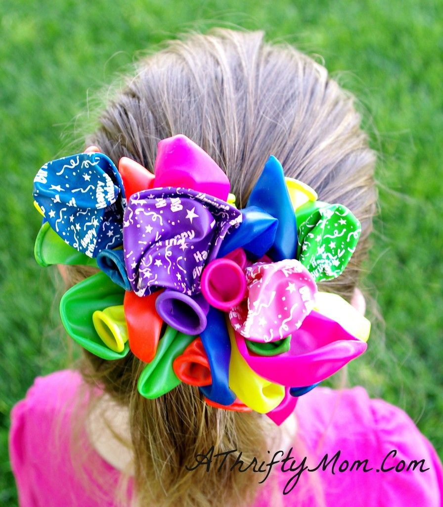 Kids Birthday Craft Ideas Part - 39: Kids Crafts, DIY Balloon Barrettes