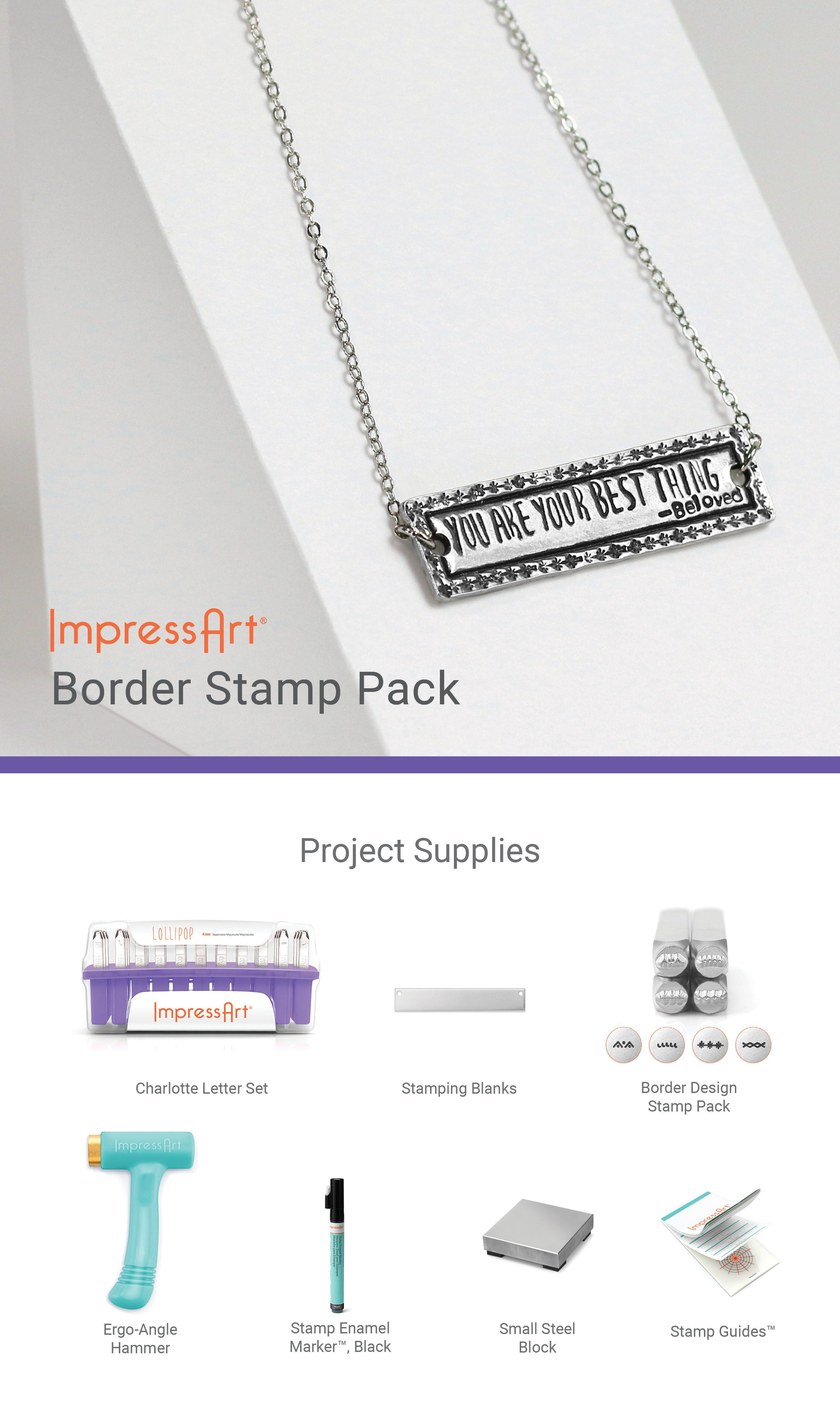 ImpressArt Dot /& Dash Metal Stamp Pack