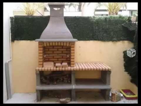 Resultado de imagem para asadores de ladrillo con chimenea - Chimenea ladrillo ...
