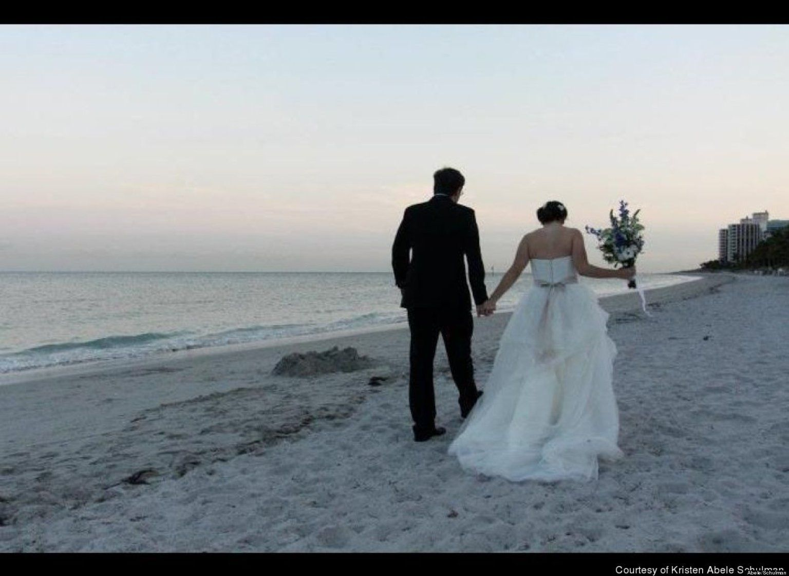 Think it's impossible to have a beautiful beach wedding on