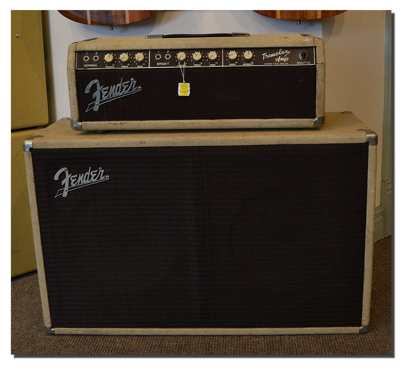 blonde fender tolex original product top cab bassman bandmaster with cabinet amp