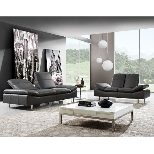 Wade Logan® Aedan 2 Piece Leather Living Room Set