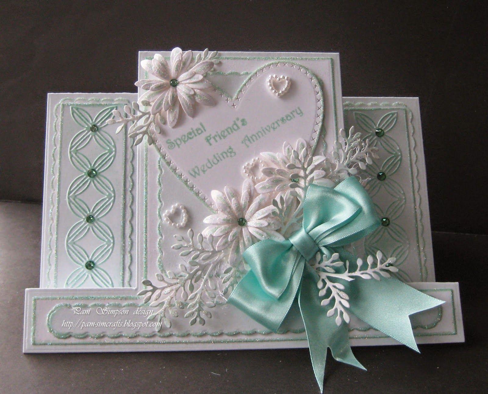 Friends Wedding Anniversary Card Wedding Anniversary Cards Anniversary Cards Center Step Cards