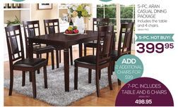 5-Pc. Aran Casual Dining Package from The Brick $399.95