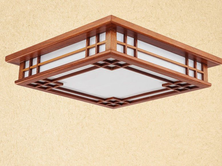 Asian Chinese Anese Style Ceiling Lamp Led Mahogany Finish Wood Lights Lamps Bedroom Living Room Decorations Lighting