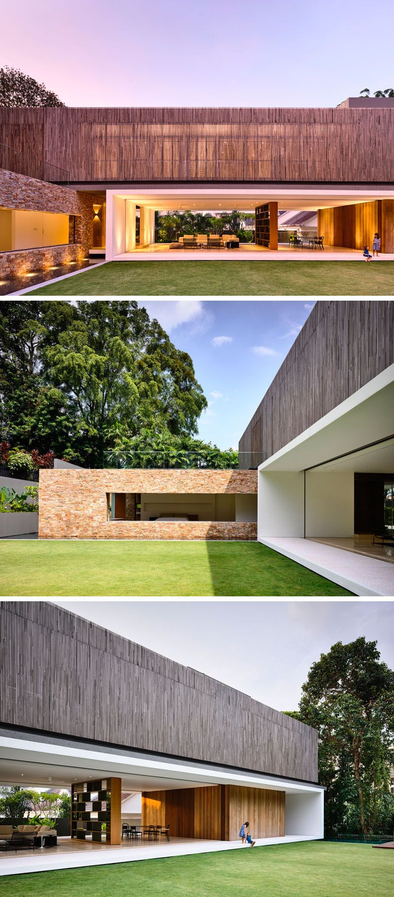 The Main Living Level Of This Home Completely Opens Up To The Grassy  Backyard, And