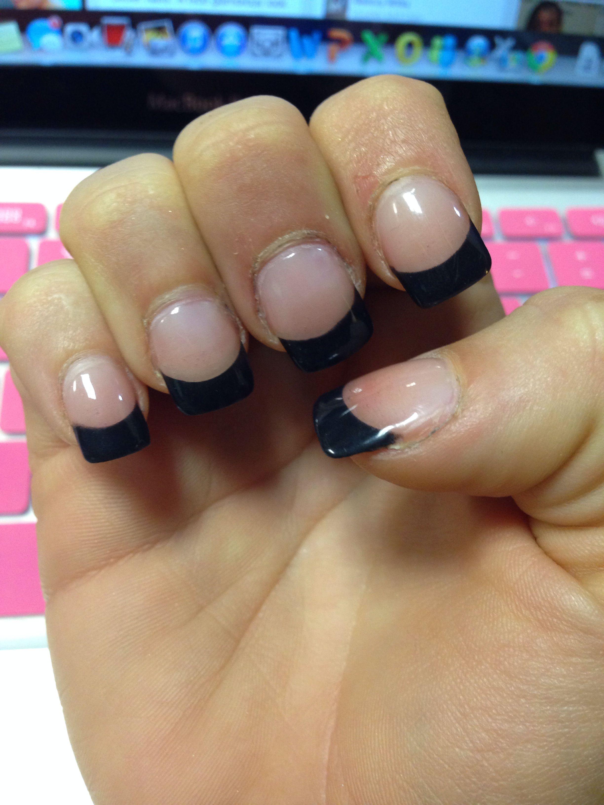 Attractive Black Solar Nails Motif - Nail Art Ideas - morihati.com