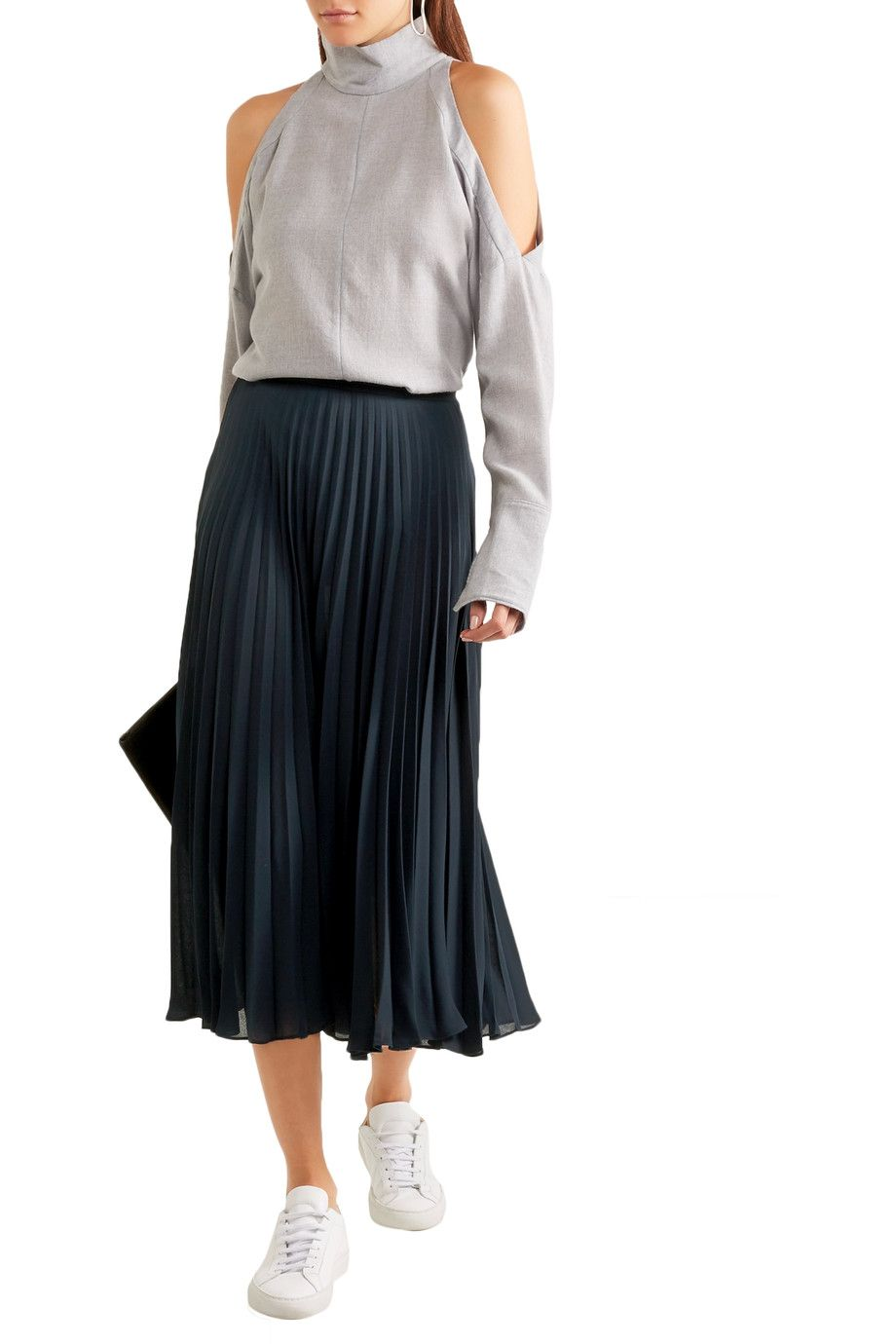 76babc7c5 Shop on-sale Vince Pleated chiffon midi skirt. Browse other discount  designer Skirts & more on The Most Fashionable Fashion Outlet, THE  OUTNET.COM