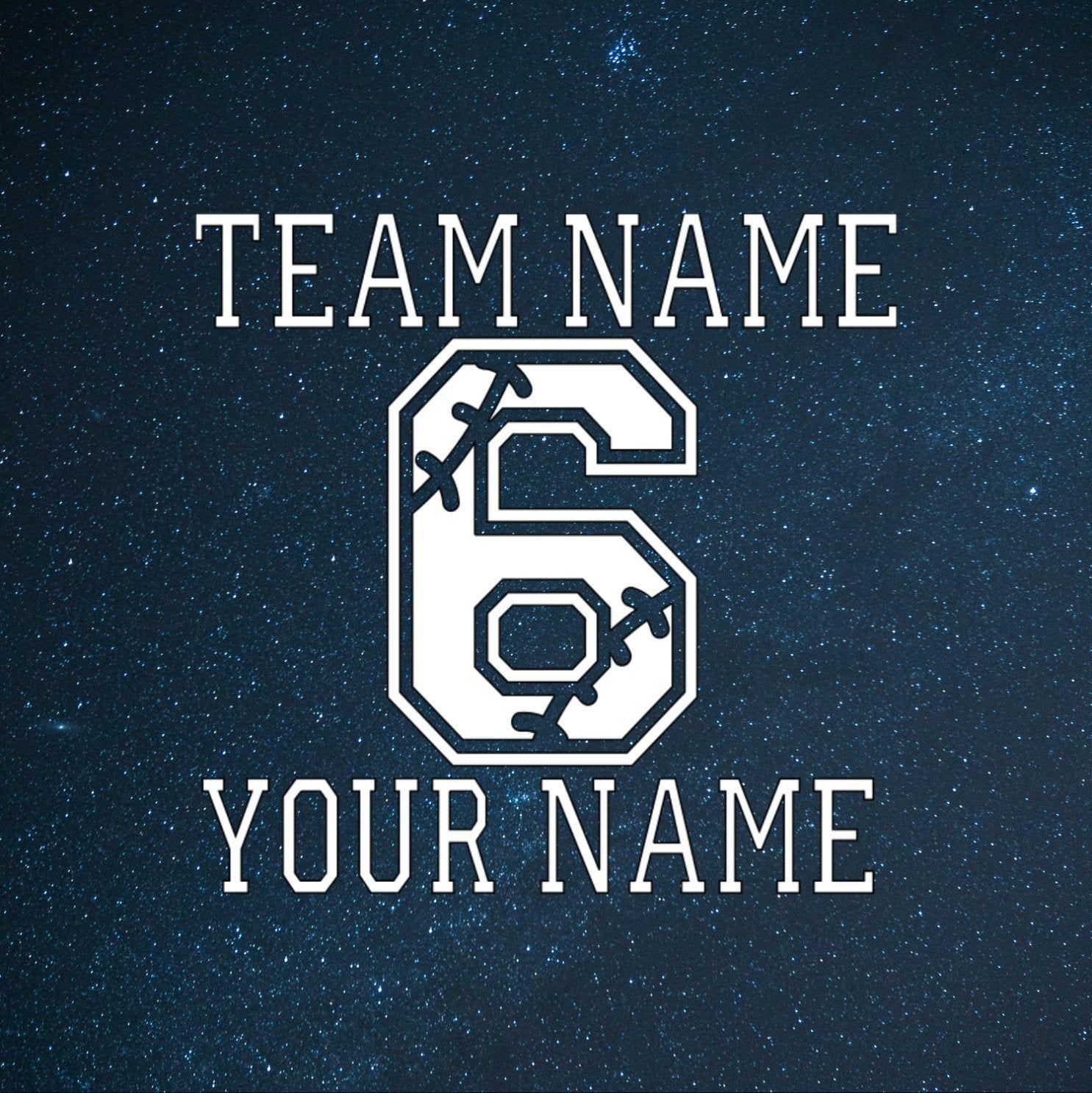 Personalized Baseball Decal Baseball Sticker Sports