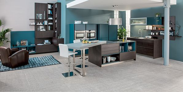 1000 images about cuisine ouverte on pinterest bandeaus java and search - Cuisine Bleu Et Taupe