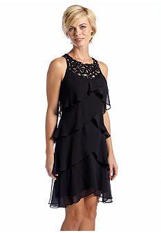 6d7b1a5d6b736 SL Fashions Sleeveless Tulip Tiered Dress belk  90 1 18 14 black only