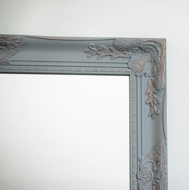 Bathroom vanity french farmhouse mirror distressed grey