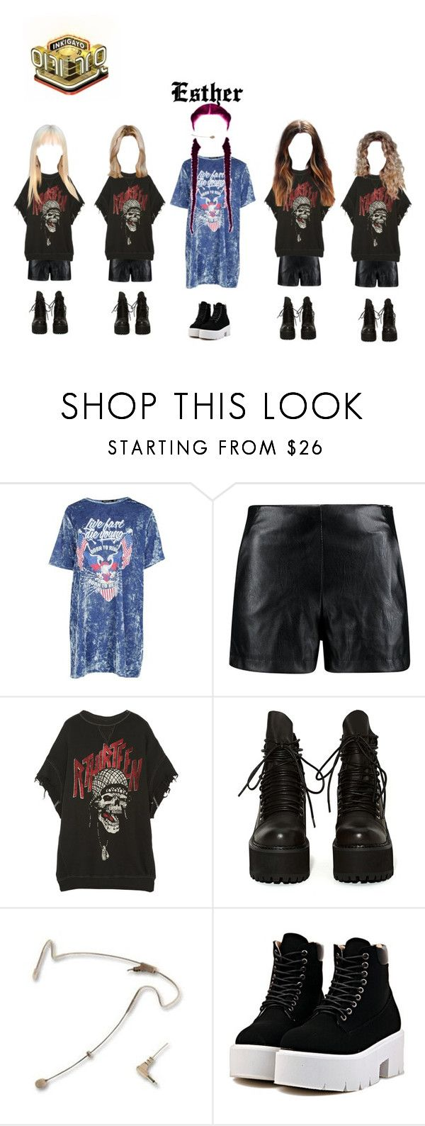 """""""SBS Inkygayo :Esther """"Blurring"""" Goodbye Stage + no.1 of the week"""" by officialdlxx ❤ liked on Polyvore featuring Boohoo, R13, UNIF and DV"""